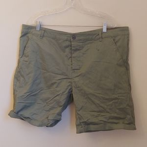 ASOS Olive Green Cropped Men's Shorts Waist 40